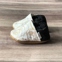 Moccasins White Gold Rose