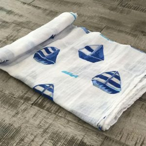 Swaddle Blanket Sailboat
