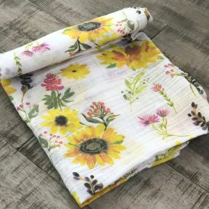 Swaddle Blanket Sunflower