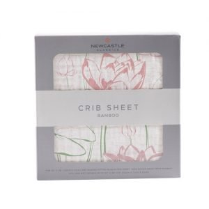 Water Lily Crib Sheet